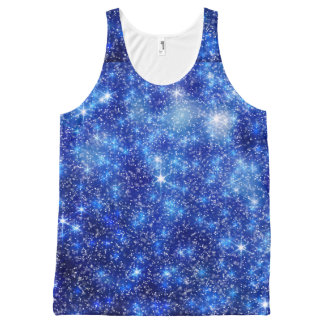Blurred Star Snow All-Over Printed Unisex Tank All-Over Print Tank Top