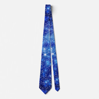 Blurred Star Snow Christmas Tie