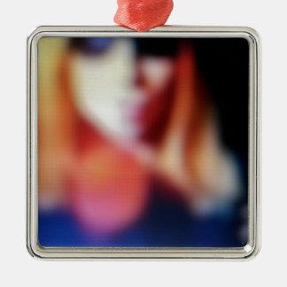 Blurred Susie Metal Ornament