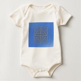 blurred symbol blue baby bodysuits