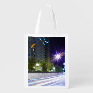 Blurred Traffic at Night Grocery Bags