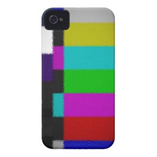 Blurred TV Test Screen iPhone Case