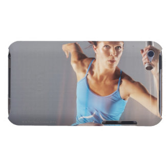 Blurred view of athlete running with baton Case-Mate iPod touch case