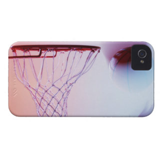 Blurred view of basketball going into hoop iPhone 4 Case-Mate case