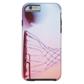 Blurred view of basketball going into hoop tough iPhone 6 case