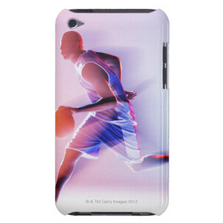 Blurred view of basketball player dribbling barely there iPod cover
