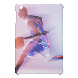 Blurred view of basketball player dribbling cover for the iPad mini