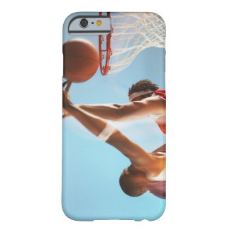 Blurred view of basketball player dunking barely there iPhone 6 case