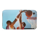 Blurred view of basketball player dunking iPhone 3 case