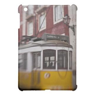 Blurred view of streetcar on city street iPad mini covers