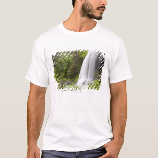 Blurred Waterfall and Forest View in Oregon T-Shirt