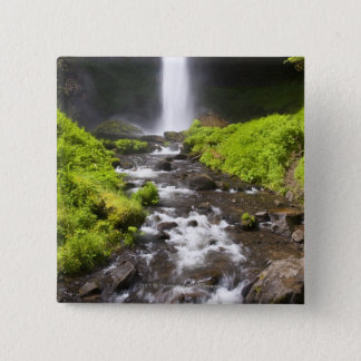 Blurred Waterfall and River Button