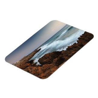 Blurred Waves Rectangular Photo Magnet