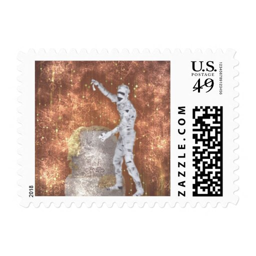 blurred zombie postage stamp