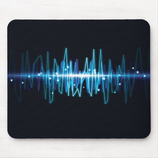 Blurry abstract audio wave light effect mouse pad