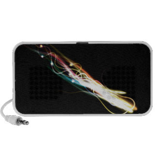 Blurry abstract colorful light effect background travelling speaker