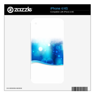 Blurry Blue Light Background iPhone 4S Decal