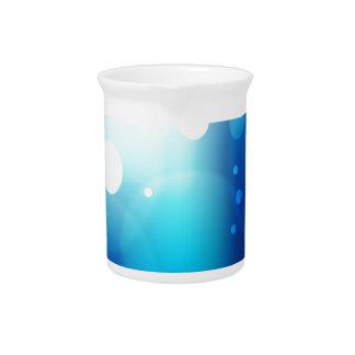 Blurry Blue Light Background Beverage Pitcher