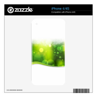 Blurry Bokeh Green Light Background iPhone 4 Decal