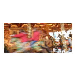 Blurry Carousel Horses Card