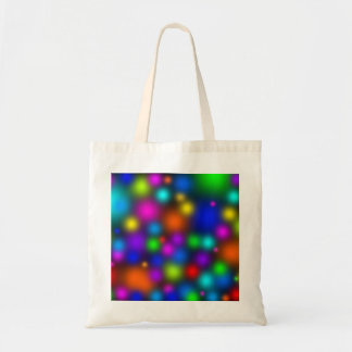 Blurry Dots on Black Tote Bag