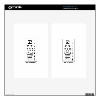Blurry Eye Chart - Nope, It's Just You! Funny! Skins For Kindle Fire