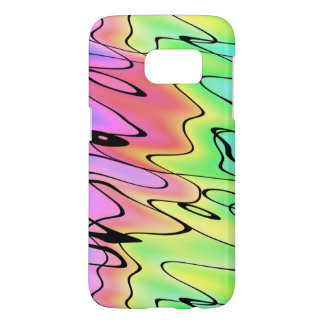 Blurry Pastel Rainbow and Ink Swirling Abstract Samsung Galaxy S7 Case