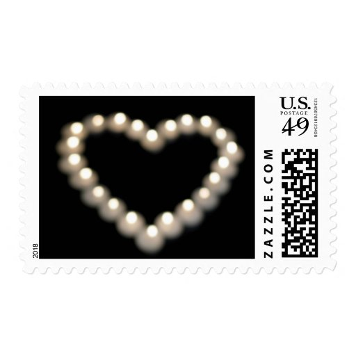 Blurry Pearl Heart Postage Stamps