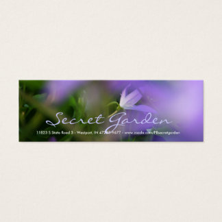 Blurry Purple Campanula Floral photography Mini Business Card