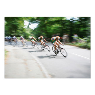 Blurry Racing Bikers Personalized Invite