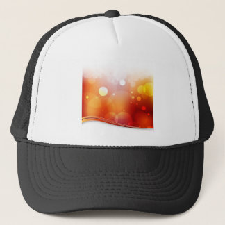 Blurry Red Light Background Trucker Hat