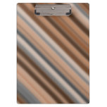 [ Thumbnail: Blurry Rustic Inspired Stripes Pattern Clipboard ]
