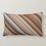 [ Thumbnail: Blurry Rustic Inspired Stripes Pattern Lumbar Pillow ]