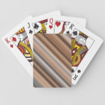 [ Thumbnail: Blurry Rustic Inspired Stripes Pattern Playing Cards ]