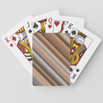 Blurry Rustic Inspired Stripes Pattern Playing Cards