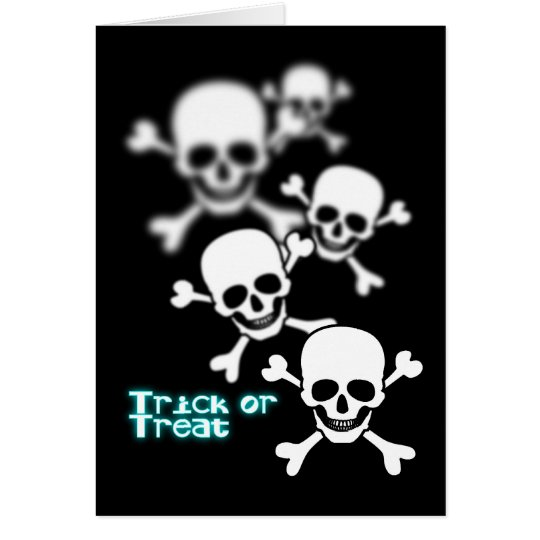 Blurry skull card