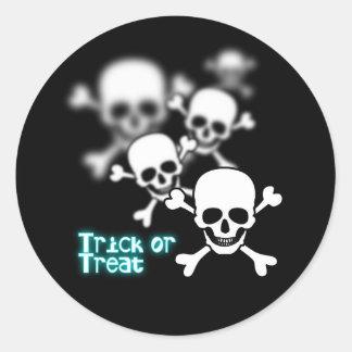 Blurry Skulls Classic Round Sticker
