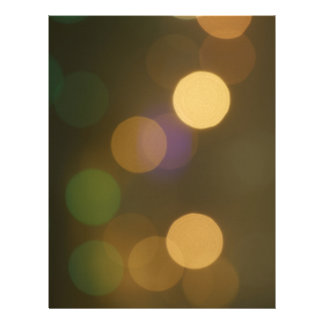Blurry street lights letterhead
