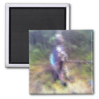 blurry troll photo 2 inch square magnet