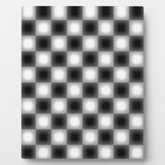 Blurry Two Tone Check Plaque