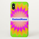 [ Thumbnail: Blurry Vibrant Bursting Flower-Like Pattern; Name Case ]
