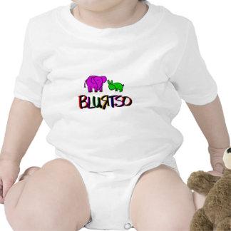 blurtso logo green and pink tee shirt