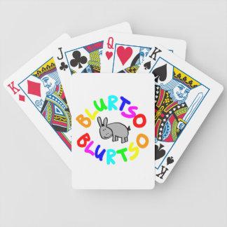 blurtso logo multi color bicycle poker cards