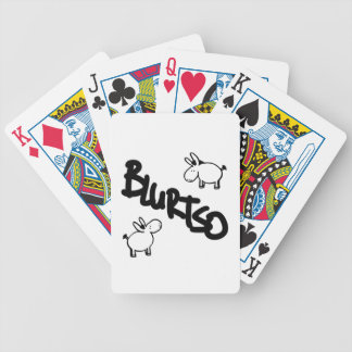 blurtso logo two donkeys poker deck