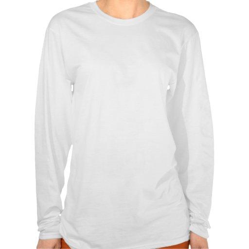 Blusa de manga larga de las señoras de la guirnald t shirt