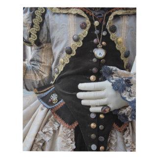 Blusa de Steampunk, carnaval, Venecia Cuadro