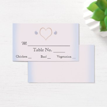 Beach Themed Blush and Blue Flip Flop Beach Wedding Place Cards