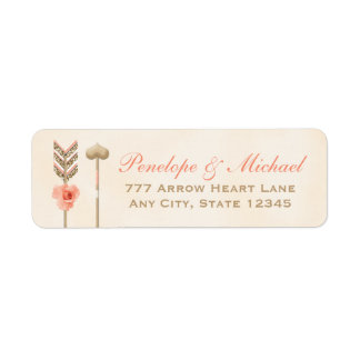Blush and Burnished Gold Look Arrow Label