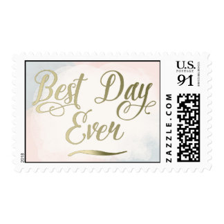 Blush and Gold - Best Day Ever Postage