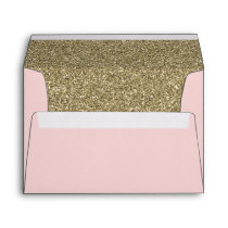 blush and Gold FAUX glitter Envelope